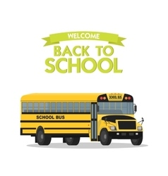 yellow school bus isolated on white vector image vector image