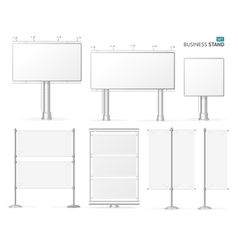 Blank Business Stand Set vector image