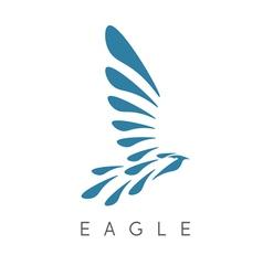 design template of abstract bird eagle vector image
