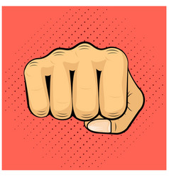 hit shock blow strike punch fist icon symbol vector image vector image