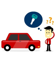 Man Missing A Car Key vector image vector image