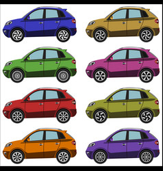 set of cars crossovers vector image