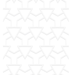 White art deco pattern vector image vector image