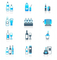 drink bottles icons marine vector image vector image