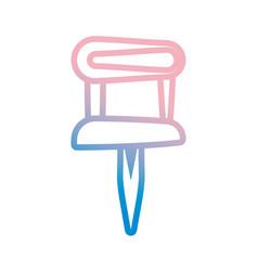 pushpin isolated symbol vector image