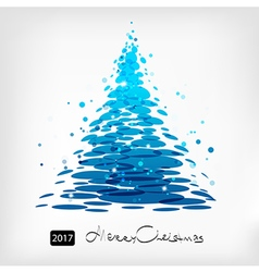 Blue Christmas tree art vector image vector image