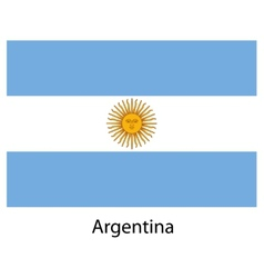 Flag of the country argentina vector image vector image