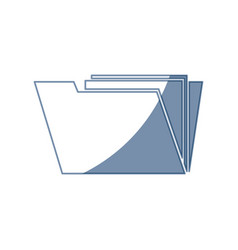 folder file archive document technology vector image