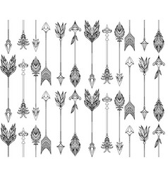 seamless texture with boho arrows with different vector image vector image