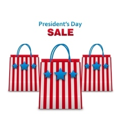 Set Shopping Bags in USA Patriotic Colors for vector image vector image
