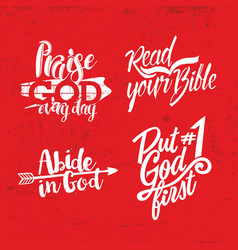 a set of christian lettering vector image