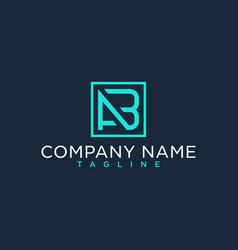 Ab ba initial logo luxury design inspiration vector