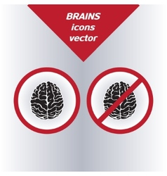 brain icons on white background vector image