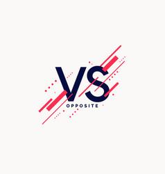 Bright poster symbols of confrontation vs vector