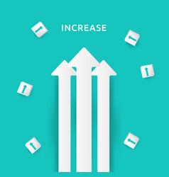 Business arrow target direction concept vector
