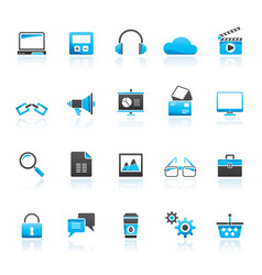 business office and marketing icons vector image