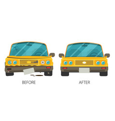 car body frame repair in flat style vector image