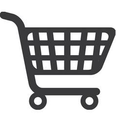 Cart supermarket shopping icon vector
