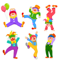 Cartoon clowns collection vector