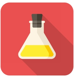 Closed test tube icon vector