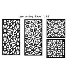 cnc set decorative panels for laser vector image