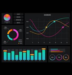 Creative of web dashboard vector
