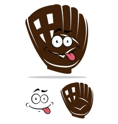 Cute cartoon baseball glove vector