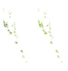 Demographics and nature vanuatu islands map vector