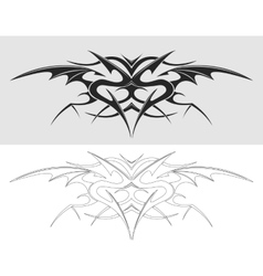 Dragon tattoo silhouette vector