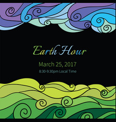 ecology earth hour vector image