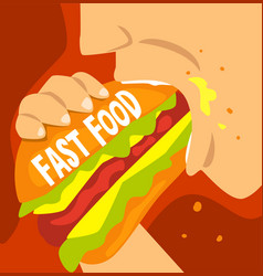 Fast food dependence bad habit and addiction of vector