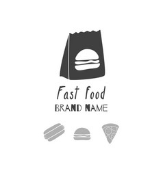 fast food logo template vector image