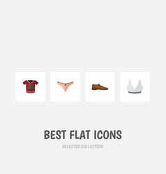 Flat icon clothes set of lingerie brasserie t vector