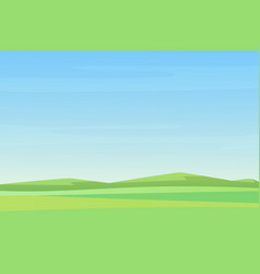 fully minimalistic simple empty meadow green vector image