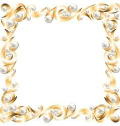 Golden jewelry frame vector