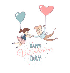 happy valentines day greeting card couple love vector image