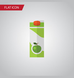 Isolated apple juice flat icon packet beverage vector
