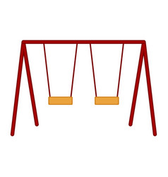 isolated playground swing equipment vector image