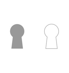 Keyhole it is black icon vector