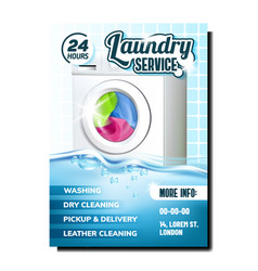 laundry washing clothes service banner vector image