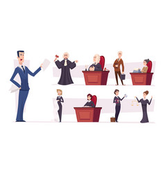 lawyers team judges professional workers vector image