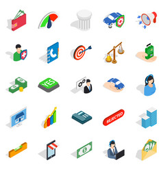 License icons set isometric style vector