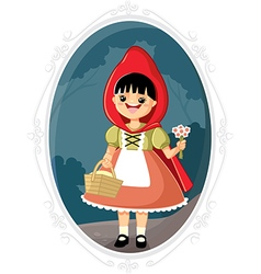 Little Red Riding Hood Cartoon vector image