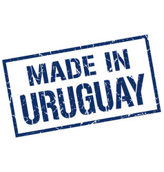 Made in uruguay stamp vector