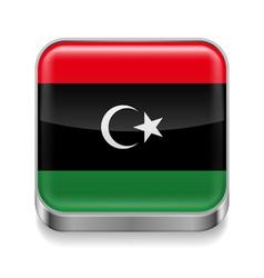 Metal icon of Libya vector image