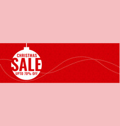 minimal christmas festival sale red banner vector image