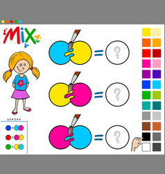 Mix colors educational game for children vector