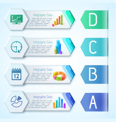 modern infographic business horizontal banners vector image