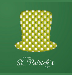modern paper art design for saint patricks day vector image