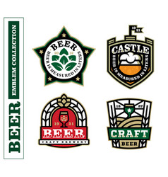 modern professional label set for a craft beer vector image